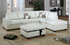 Bonded Leather Sectional Sofa