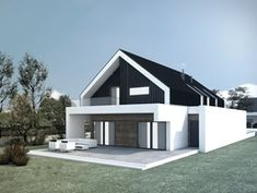 Modern home design Modern Family House, Modern Barn House, Modern Mansion, Modern House Design, House Roof Design, Flat Roof House, Conch House, Modern Townhouse, Model House Plan