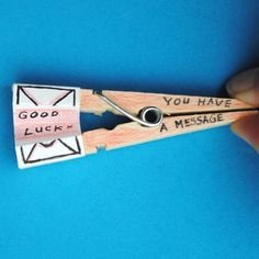 Full photo tutorial on how to make these fun little messages.