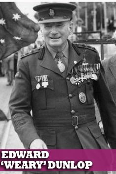 Lieutenant Colonel Sir Ernest Edward 'Weary' Dunlop AC, CMG, OBE (12 July 1907 – 2 July 1993) was an Australian surgeon who was renowned for his leadership while being held prisoner by the Japanese during World War II. A courageous leader and compassionate doctor, Dunlop defied his captors, gave hope to the sick and eased the anguish of the dying. His example was one of the reasons why Australian survival rates were the highest. Lest We Forget.