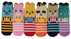 Soft, fluffy material keeps toes cozy and warm. Elasticized ankle openings won't dig into your calf. Soft and stretchy, your feet will love them! Sock size fits shoe Hand or machine washed with neutral detergent. Boutique Dresses, Boutique Clothing, Fluffy Socks, Women Socks, Sock Animals, Patterned Socks, Funky Fashion, Boutique Shop, 6 Packs