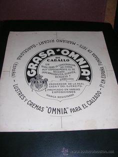 PUBLICIDAD - DIBUJO ORIGINAL A PLUMILLA PUBLICITARIO GRASA DE CABALLO OMNIA VALLCARCA (BARCELONA) - Foto 1
