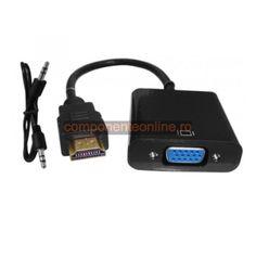 Convertor HDMI - VGA, cu audio - 173619 Multimedia, Ipod, Audio, Laptop, Usb, Ipods, Laptops