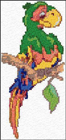 Parrot Free Cross Stitch Pattern Chart