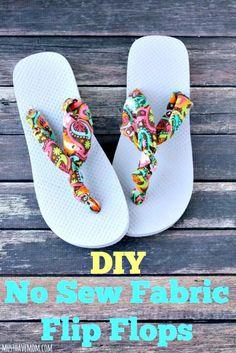 420ddd8e7cf9 DIY No Sew Fabric Flip Flops - DIY Flip Flops -25 Ways to Refashion Your