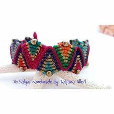 Macrame Bohemian chic bracelet https://www.facebook.com/Nostalgiehandmade/