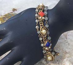Amazing Victorian Revival Gold Multi Strand Stone by Statusjacker