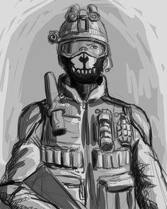 call of duty ghosts by jazzjack-KHT.deviantart.com on @deviantART  #videogames #gaming #activision #infinityward #callofduty #codghosts #fanart