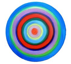 Blue Target Painting Modern Abstract