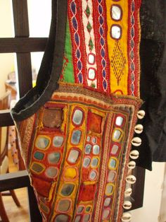 DISTRESSED Vintage Mirror Embroidery Vest: by VintageToGoEasy