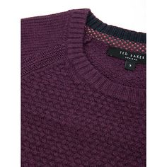 Buy Purple Ted Baker Crewe Basket Stitch Jumper from our Men's Jumpers & Cardigans range at John Lewis & Partners. Gingham Shirt, Mens Jumpers, Leather And Lace, Ted Baker, Knitwear, Crew Neck, Basket, Stitch, Stylish