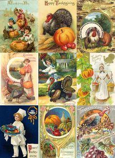 Vintage Thanksgiving postcards...