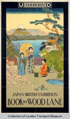 Japan - British Exhibition : Book to Wood Lane by Underground.