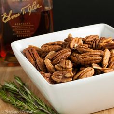 the easiest hostest gift! Bourbon Nuts. just makers mark and brown sugar.