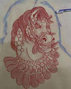 Sketch Tattoo Design, Tattoo Sketches, Flash Design, Traditional Japanese Tattoos, Japanese Tattoo Designs, Samurai Tattoo, Horse Drawings, Flash Art, Japanese Art