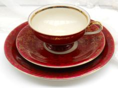 vintage teacup tea cup trio german porcelain tea by minoucbrocante, €18.50