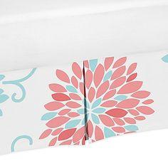 Sweet Jojo Designs Emma Floral Print Crib Skirt