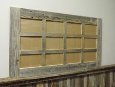 """Multi Picture Barnwood Collage Frame--12 opening for 4"""" X 6"""" pictures"""