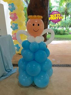 Ángel balloons decorations, decoración de bautizo, primera comunión, balloons…