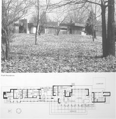 Hampshire Frank Lloyd Wright home to house music booster benefit Frank Loyd Wright Houses, Architectural House Plans, Architectural Styles, Usonian House, Vintage House Plans, Contemporary House Plans, House Blueprints, Architecture Plan, Mid Century House