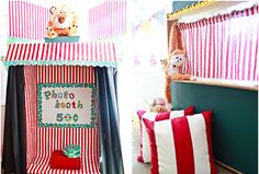 I'm thinking about the circus ideas that we have in the winter. Great decorating ideas here!