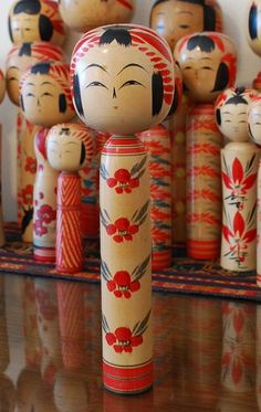 Kokeshi (I just started my collection while we are living in Japan, I love these things I think they're beautiful in their simplicity!)