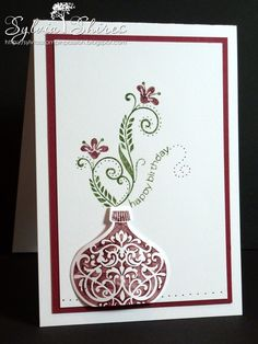 Ornament Keepsake and Flowering Flourishes at SYLVIA'S STAMPIN PASSION -