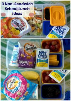 Non-sandwich school lunch ideas for back to school lunches!