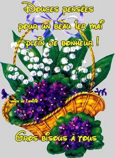 Good Day Wishes, 1. Mai, Birthday Cards, Happy Birthday, Tu Me Manques, Gif Photo, Happy Friendship Day, Lily Of The Valley, Morning Images