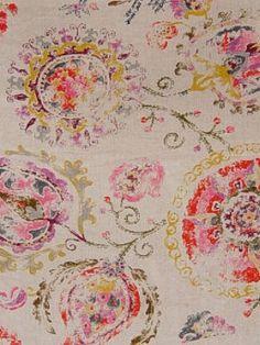 Greenhouse's A7151-Chili $51.99 per yard #interiors #decor #floral #multicolors decorating #fabrics