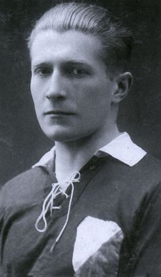 """70 years ago today, on 14 October 1944, Righteous Among the Nations and footballer Tadeusz Gebethner died of his wounds in a German prisoner of war camp near Magdeburg.  """"Tadeusz Gebethner should be a model for a patriot, a sportsman, and a man - for every Pole and especially for football fans.""""  Share his story"""