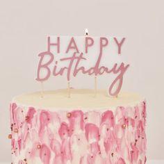 Happy Birthday, Babe... Wir lieben unsere neue, wunderschöne Roségoldene Partykerze ✨ @die_macherei . . . . . . . #diemacherei #diemachereishop #madeinaustria #gifts #geschenke #personalisiertes #personalisiertegeschenke #besonderes  #bold #makeitpop #makersgonnamake #makersclub #austria #onlineshop #shop #bespoke #custom #girls Happy Birthday Rose, Birthday Roses, Birthday Cake With Candles, Gold Birthday Party, 1st Birthday Parties, 14th Birthday, Birthday Cards, Rose Gold Candle, Die Macher