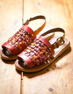 Woven leather sandals -Making sandals at home