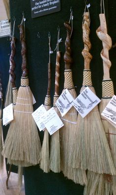 a great gift idea-these are so beautiful Friendswood Brooms at the Fireside Sale, John C Campbell Folk School. Broom Corn, Witch Broom, Best Broom, Brooms And Brushes, Bedknobs And Broomsticks, Whisk Broom, Country Primitive, Wiccan, Basket Weaving