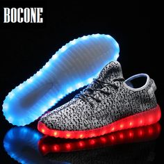 Men's Shoes Special Section Usb Charger Glowing Luminous Sneakers Feminino Baskets With Light Led For Men Light Up Shoes Tenis Masculino Adulto