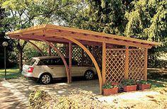 cantilevered carport (skip the lattice)