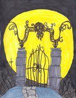 Pictures From Nightmare Before Christmas halloweentown plans | Halloweentown Graveyard Gate in The nightmare before Christmas