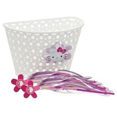 Hello Kitty Bike Basket and Streamers Hello Kitty http://www.amazon.com/dp/B00CJQ8GVI/?tag=jzmcgpinteboa-20