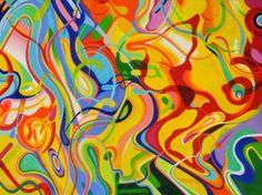 "Saatchi Art Artist Popi Marden; Painting, ""Malibu"" 72x95. acrylic #art"