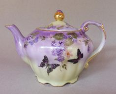 Musical Teapot with Berries and Butterflies