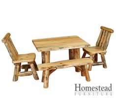 Settler's Heritage Table & Chair Set. http://www.homesteadfurnitureonline.com/youth-furniture_settlers-heritage-table-chair-set.html