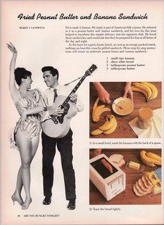 Elvis Fried Peanut Butter and Banana Sandwich
