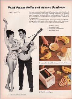 Elvis Fried Peanut Butter and Banana Sandwich