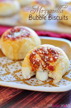 Yum! Mozzarella Bubble Biscuits