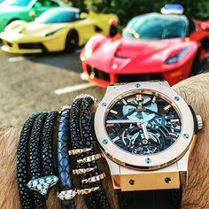 Ferrari LaFerrari x 2  Hublot Classic Fusion Tourbillon  @ferrarimotorsport @hublot @tourbillontuesday @spjeweler  #ferrari #laferrari #brothers #red #yellow #hublot #wristporn #watchandcar #watchandcardotcom #keeperoftime #jewelry #luxury #luxurylife #watchporn #bestcombo #bestofbothworlds #art #v12 #swissmade #billionaire #tourbillon #TourbillonTuesday #gorgeous by watchandcardotcom