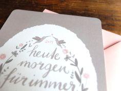 Maria & Wolfgang | Wald und Schwert www.waldundschwert.com #stationary #wedding #invitation #handwriting #typography #hummingbird Invitations, Wedding Invitation, Paper Goods, Hummingbird, Handwriting, Cake, Stationary, Typography, Penmanship