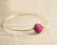 Personalized Initial bracelet  Monogram bracelet  New by skrynka, $18.00