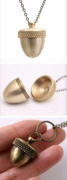 Secret Acorn Locket Necklace
