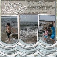 Wave jumpers--A Project by jmgesi from our Scrapbooking Gallery originally submitted 09/05/11 at 08:16 PM