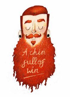 A chin full of win ! - bearded man art artwork full thick red beard and mustache beards beard men long thick mustache mustaches graphic art illustration print ginger redhead #beardsforever #beardart #beardlove